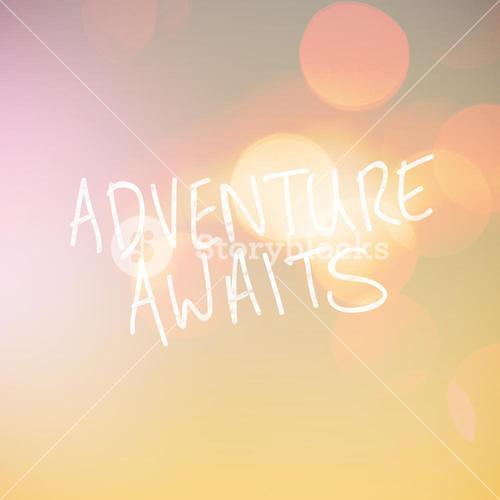 Composite image of adventure awaits word