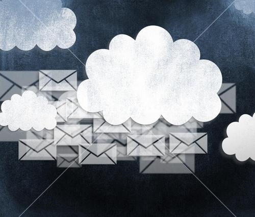 Composite image of emails
