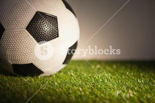 Close up of soccer ball