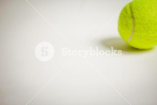View of tennis ball