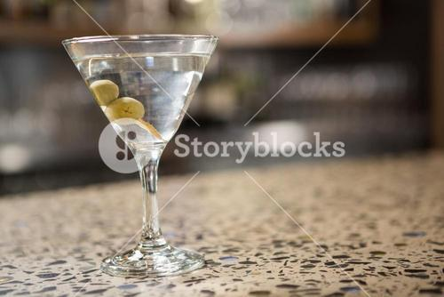 View of cocktail on counter