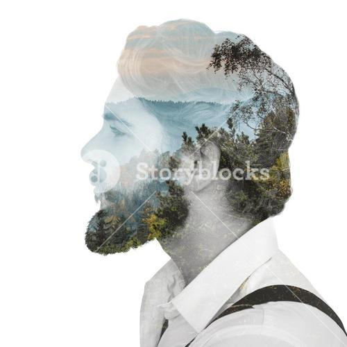 Composite image of hipster man posing