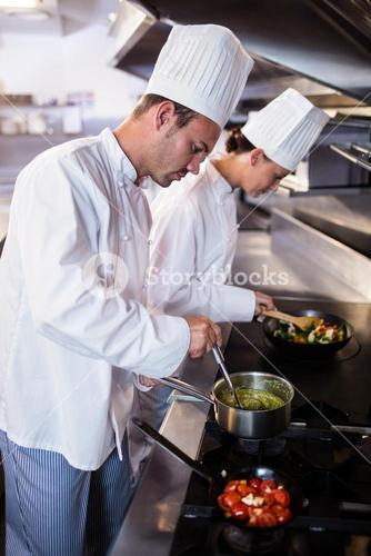 Chef preparing food in the kitche