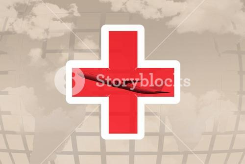 Composite image of red cross