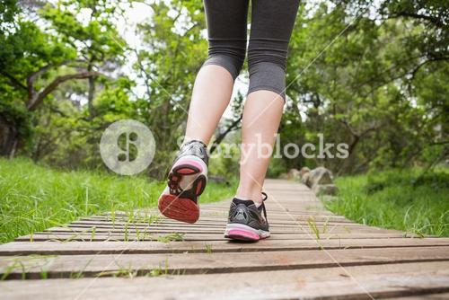 Close-up of woman jogging