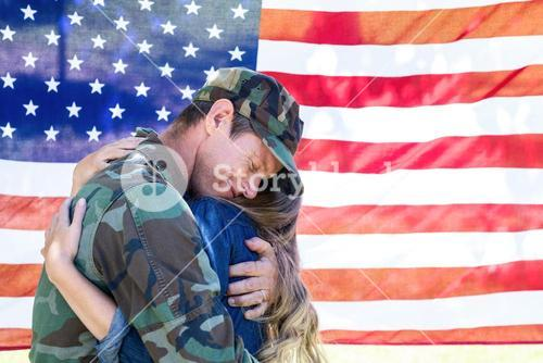 American soldier reunited with his partner