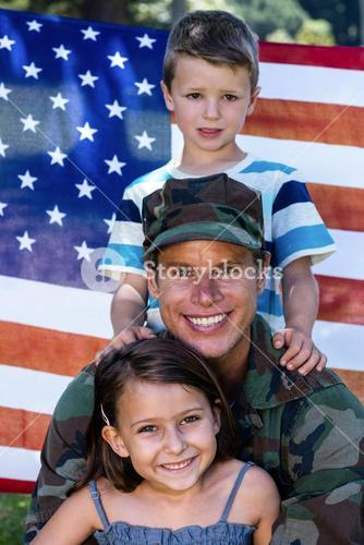 American soldier reunited with his son and daughter