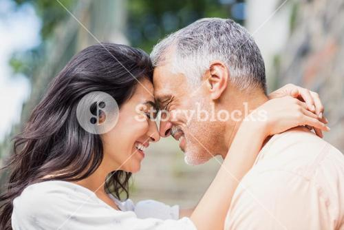 Close-up of couple embracing
