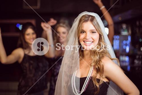 Woman celebrating her bachelorette party