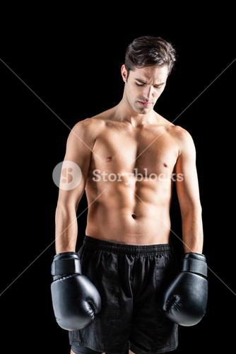 Boxer posing after failure