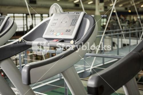 Row of treadmill