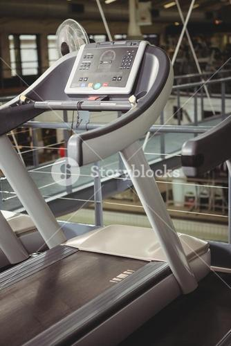 Close-up of treadmill