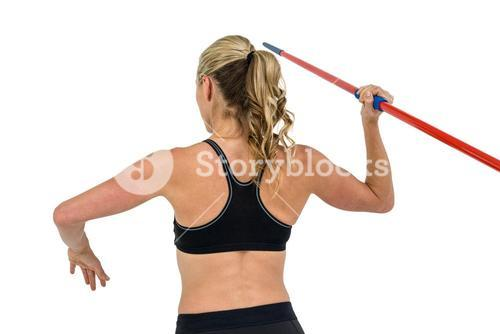 Athlete preparing to throw javelin