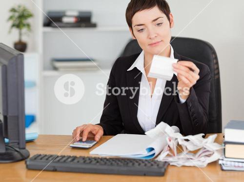 Professional office worker doing accountancy