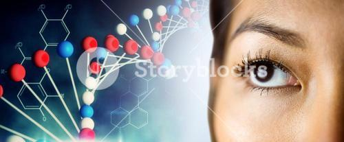 Composite image of close up view of a businesswoman looking away