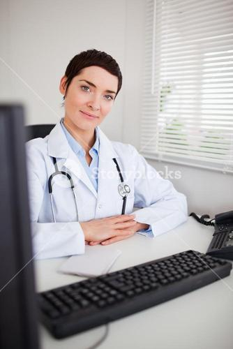 Portrait of a doctor looking at the camera