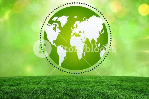 Composite image of green earth