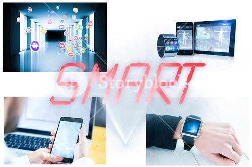 Collage of smart devices