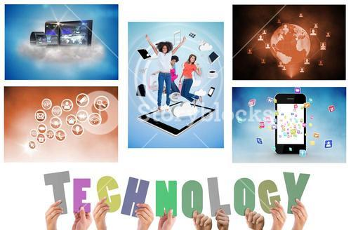 Collage of technology devices