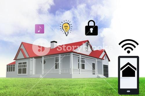 Home security app for a smartphone