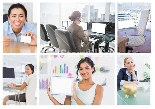 Collage of a businesswoman
