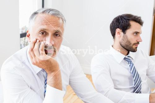 Bored businessman in a meeting