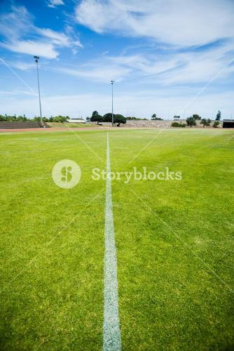 Boundary line of a playing field