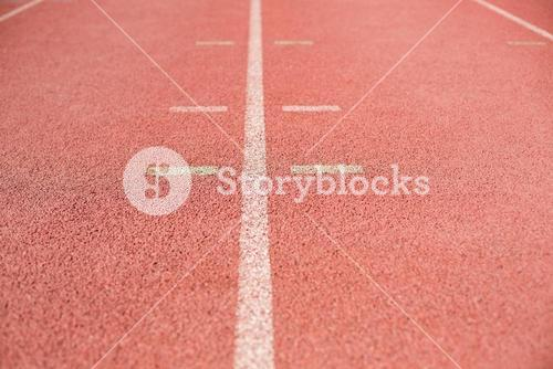 Marking line on running track