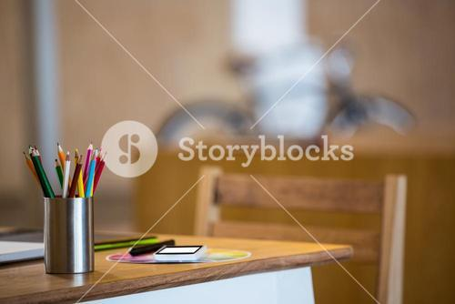 Office stationary and multi device at desk