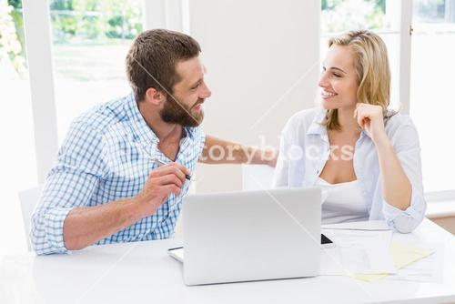 Couple interacting with each other