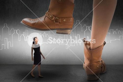 Composite image of cowboy boots dancing