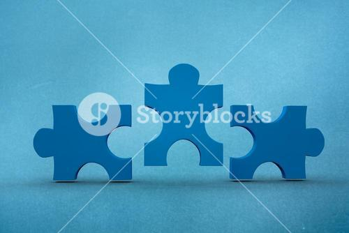 Composite image of pieces of jigsaw puzzle