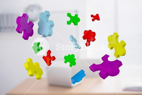 Composite image of jigsaw pieces