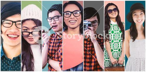 Composite image of smiling hipster businessman looking at camera