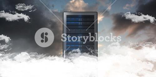 Composite image of server tower