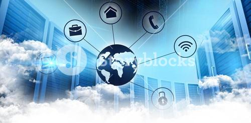 Composite image of connected world