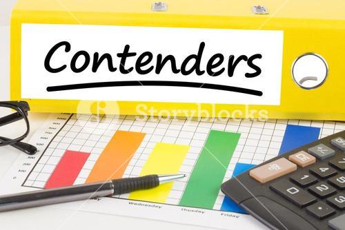 Composite image of word contenders underlined