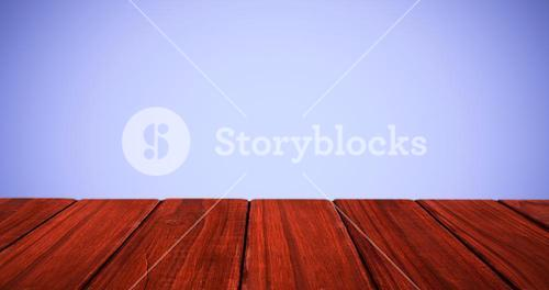 Composite image of high angle view of hardwood floor