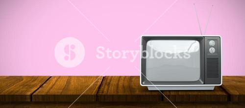 Composite image of retro tv