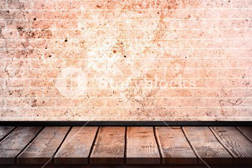 Composite image of wooden table