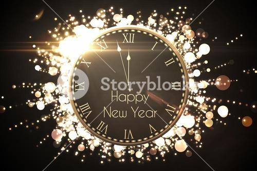 Black and gold new year message