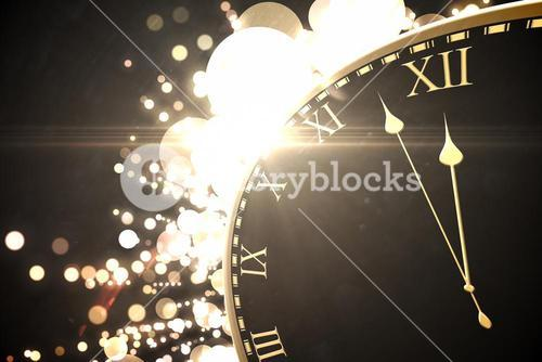 Black and gold new year graphic