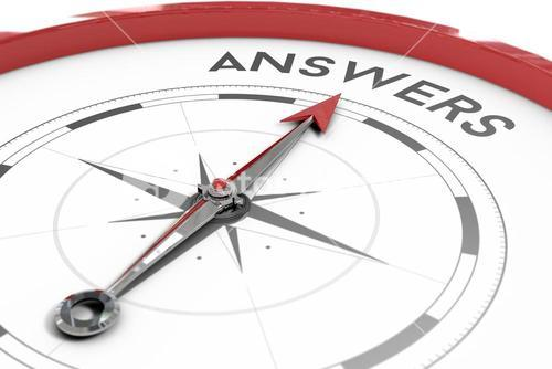Compass pointing to answers