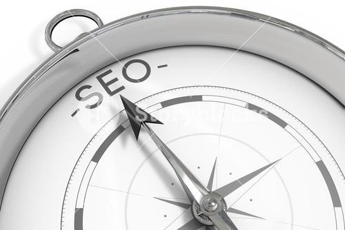 Compass pointing to SEO