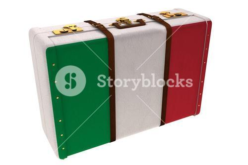 Italy flag suitcase