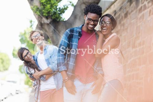 Portrait of young couple having fun