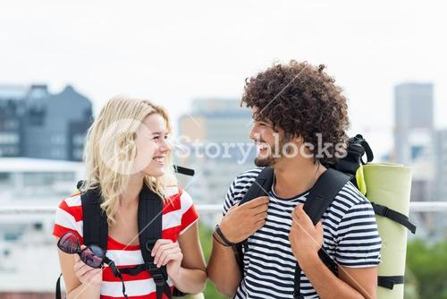 Young couple interacting with each other