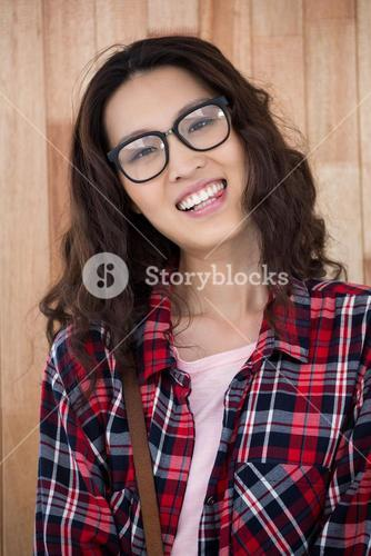 Smiling hipster with glasses