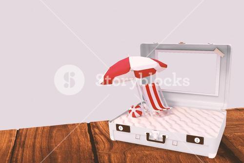 Composite image of image of a suitcase