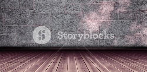 Composite image of image of a wooden floor